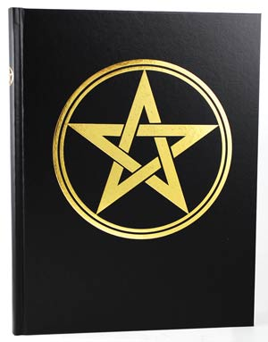 "Large Pentagram Book of Shadows 8 1/2"" x 11"" (hc)"