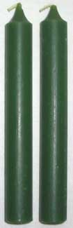 Dark Green Chime Candle 20 pack