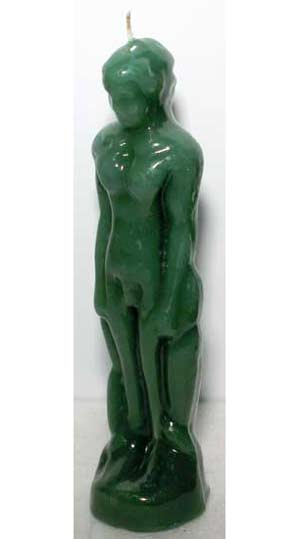 Green Male Iconic Candle