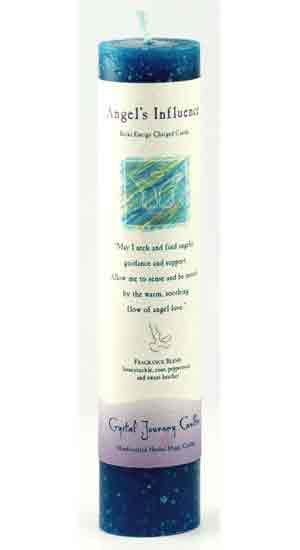 Angel`s Influence Reiki Charged Pillar candle