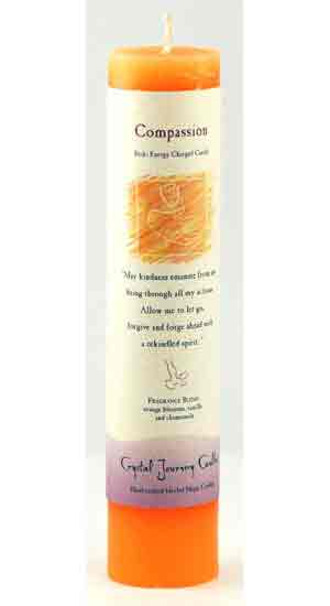 Compassion Reiki Charged Pillar Candle
