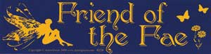 Friend of the Fae bumper sticker