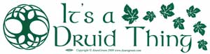 It`s A Druid Thing bumper sticker