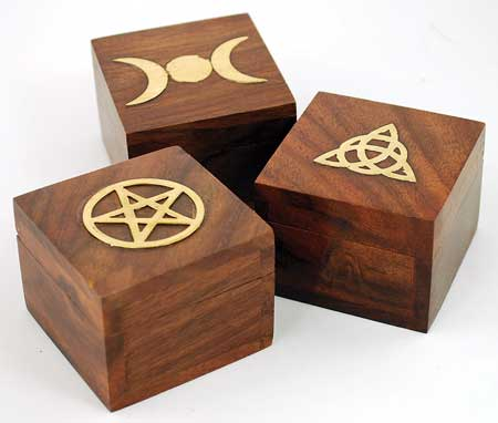 Miniature Brass Inlaid Box (various designs) - Click Image to Close