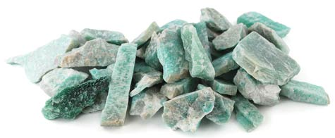 1lb Untumbled Amazonite Stones