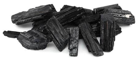 1lb Untumbled Black Tourmaline Stones