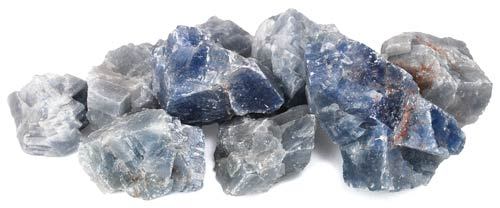 1lb Untumbled Blue Calcite Stones