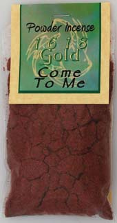 Come To Me Powder Incense 1618 gold