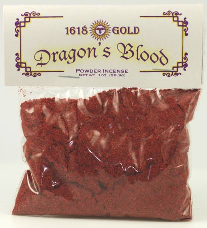 Dragons Blood Powder Incense 1618 gold