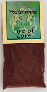 Fire of Love Powder Incense 1618 gold
