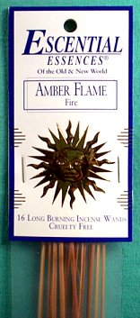 Amber Flame Escential Essences Incense Sticks