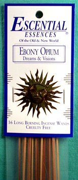 Ebony Opium Escential Essences Incense Sticks
