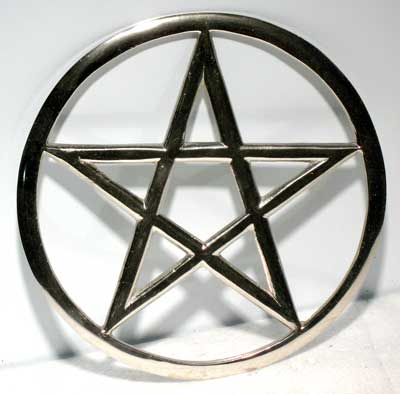 Large Cut-Out Pentagram altar tile 5 3/4""