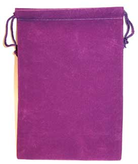 Purple Velveteen Bag (5 x 7)